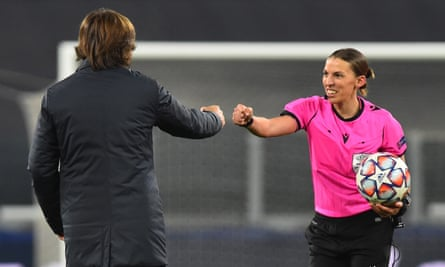 Champions League: referee Stéphanie Frappart makes history in Juventus win  | Champions League | The Guardian