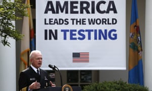 Brett Giroir speaks during a press briefing in the Rose Garden of the White House, 11 May 2020.
