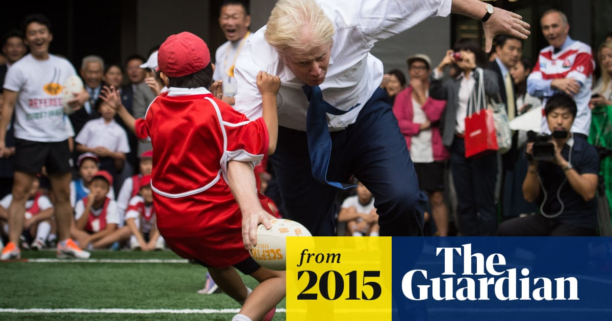 Boris Johnson knocks over 10-year-old during rugby game in Japan