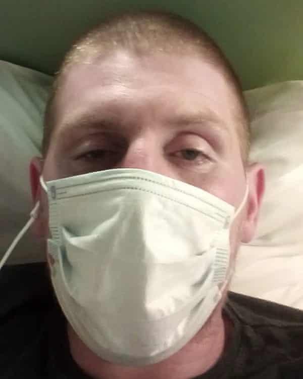 Rough sleeper Luke Donnelly, who contracted coronavirus.