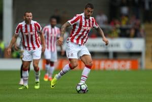 Stoke City's Joselu during a pre-season match against Burton Albion.