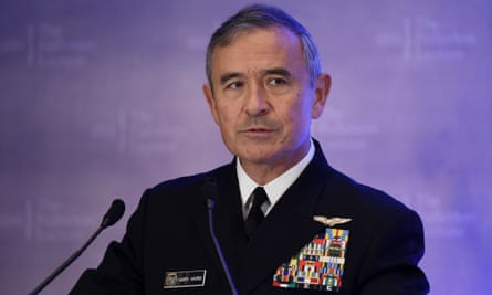 Harry Harris says China's military might could soon rival US power 'across almost every domain', and warned of possibility of war.