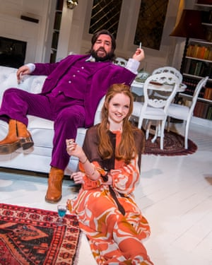 Matt Berry and Lily Cole in The Philanthropist.