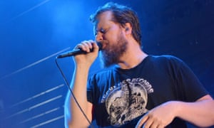 American musician John Grant performs live on stage at Hammersmith Apollo, London, on 12 November 2015