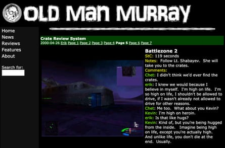 Old Man Murray's infamous crate review system.