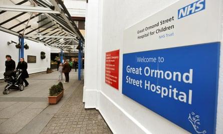 main entrance to Great Ormond Street hospital