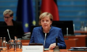 German chancellor Angela Merkel attends the weekly cabinet meeting of the government at the chancellery in Berlin, October 21.