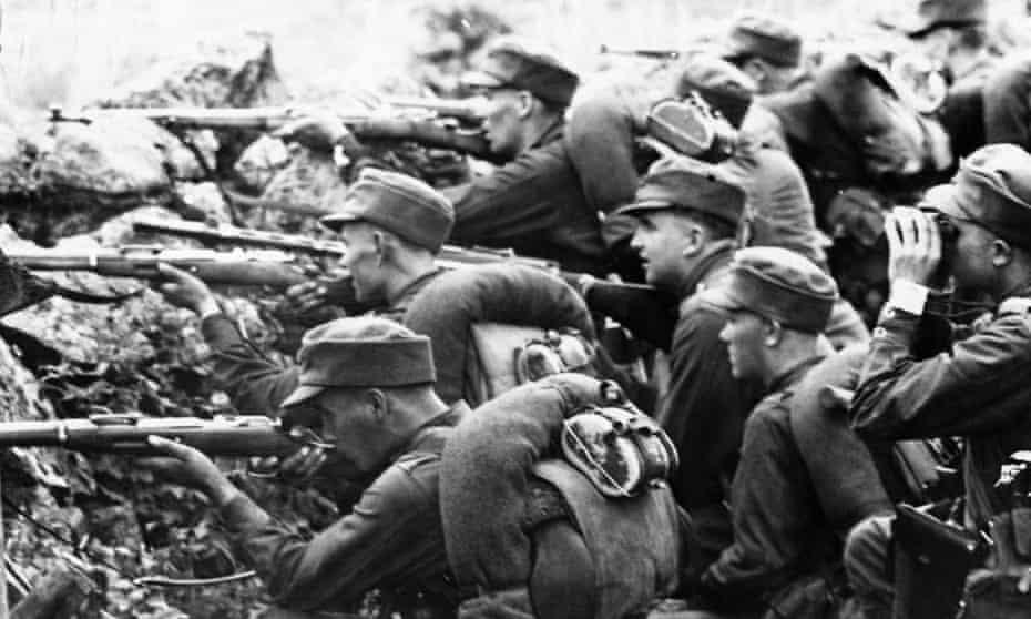 Finnish troops iin the second world war