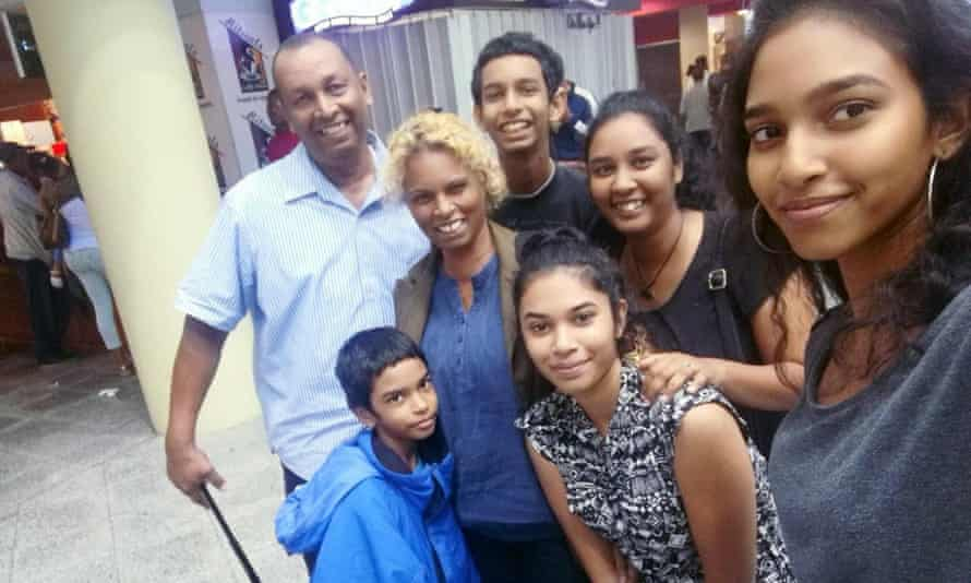 Lynda and Winston Mahabir with their five children Petronella, Candace, Micah-Bjorn, Jorn-Judah and Crystal.