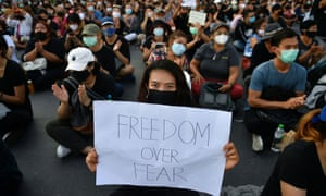 The anti-government demonstrations have gathered support among young Thais.