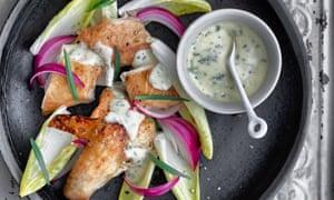 Lightly cured tarragon chicken
