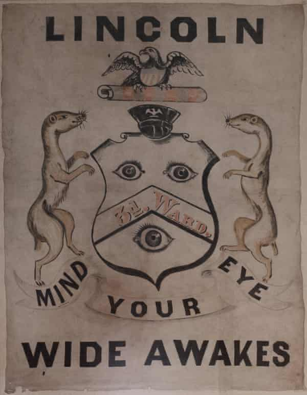 A banner in the the Old Capitol building in Springfield, Illinois.