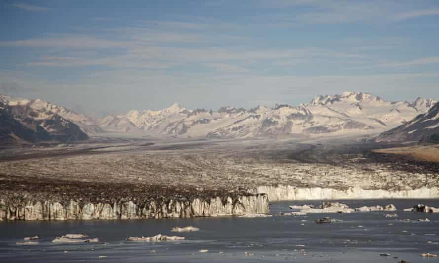 Miles Glacier and Miles Lake Chugach National Forest near Cordova, Alaska.