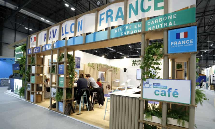 The French pavilion at Cop25 in Madrid in 2019.