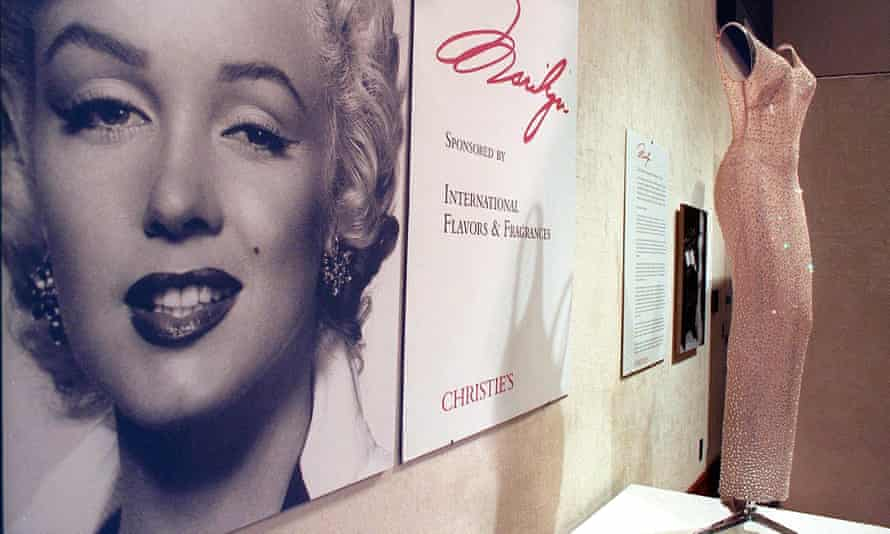 The dress on display at Christie's in Los Angeles, in 1999.
