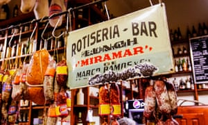 Hanging sausages at Miramar, Buenos Aires, Argnetina
