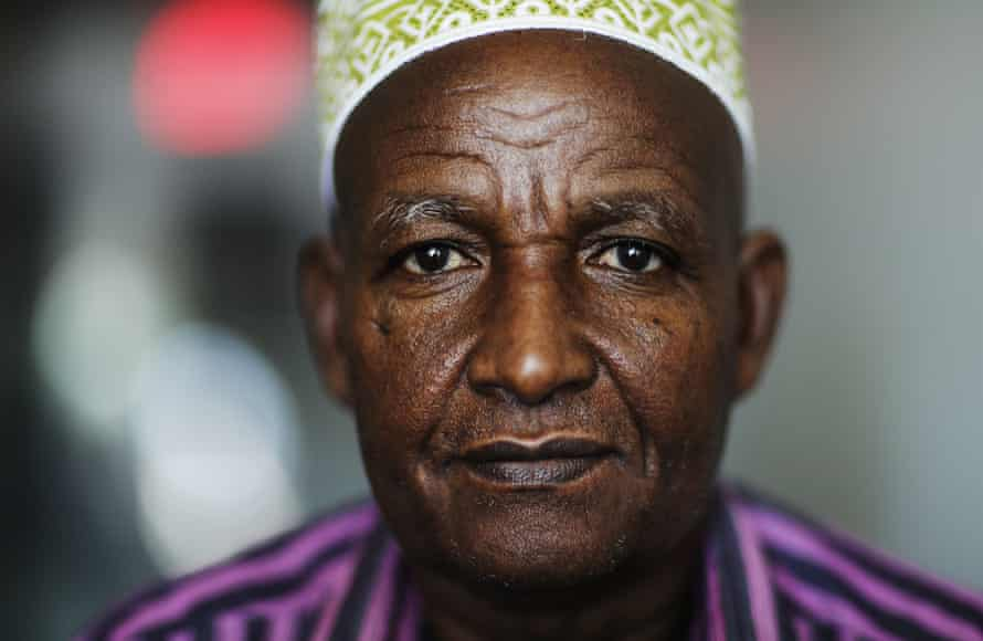 Mohamoud Saed, who was a doctor in Somalia before he fled the nation's civil war, anxiously awaits the arrival of his wife and eight children while struggling with kidney issues.