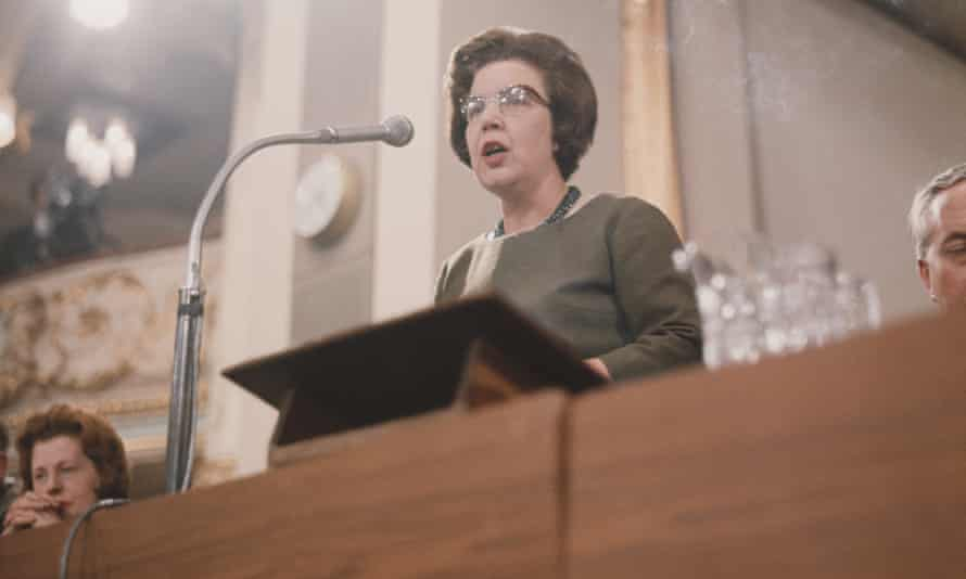 'Almost forgotten': Alice Bacon at the Labour party annual conference, Blackpool, September 1965.