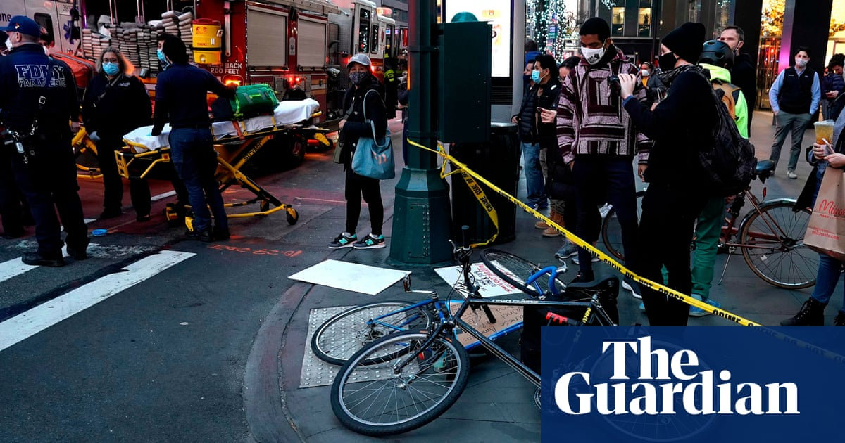 Woman charged after allegedly driving car into crowd of New York protesters – The Guardian