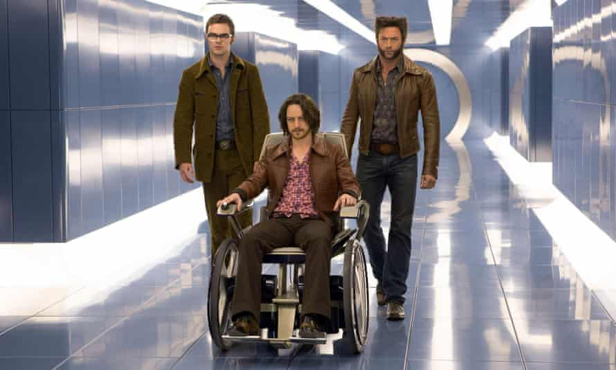 McAvoy with Nicholas Hoult and Hugh Jackman in X-Men: Days Of Future Past.