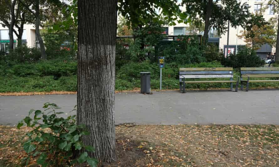 The spot where Khangoshvili was killed.