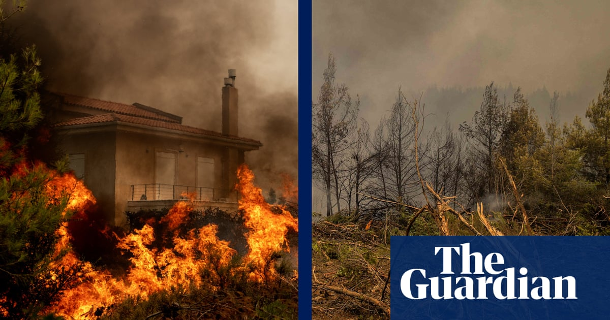 Drone footage shows devastating aftermath of wildfires – video