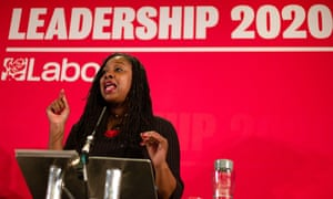Dawn Butler campaigning in Durham in February for deputy leader of the Labour party