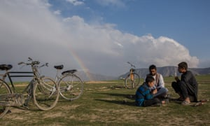A picnic the foothills of the Hindu Kush mountains, just outside Mazar-e-Sharif city