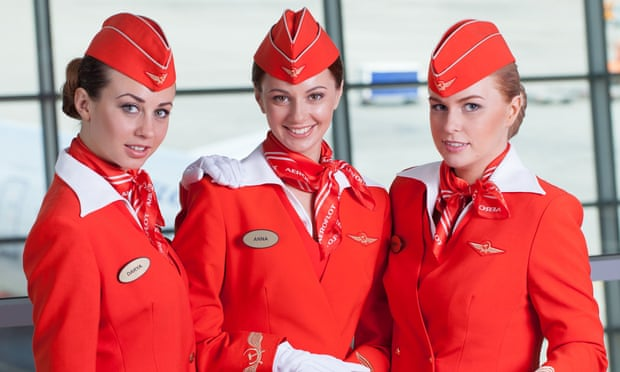 Aeroflot says it does/doesn't choose flight attendants based on weight