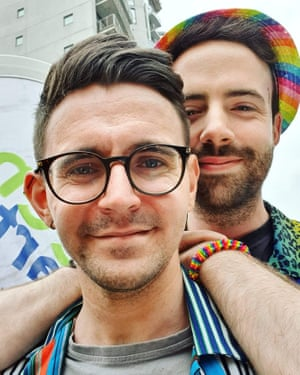 Cory Quinn, left, and his partner Anthony Flynn