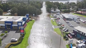 Submerged streets in Port Macquarie