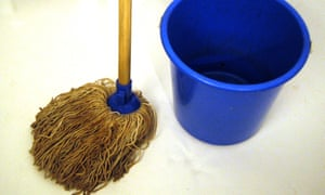A mop and bucket