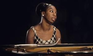 nina simone at the piano