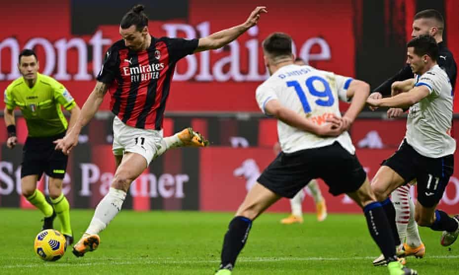 Zlatan Ibrahimovic playing for Milan