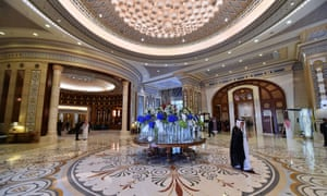 The Ritz Carlton in the Saudi capital Riyadh, where the purged royals and other prominent citizens remain detained.