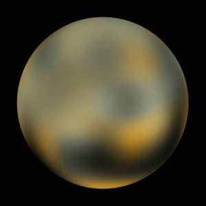A Hubble Space Telescope photograph Pluto from 2010.<br>