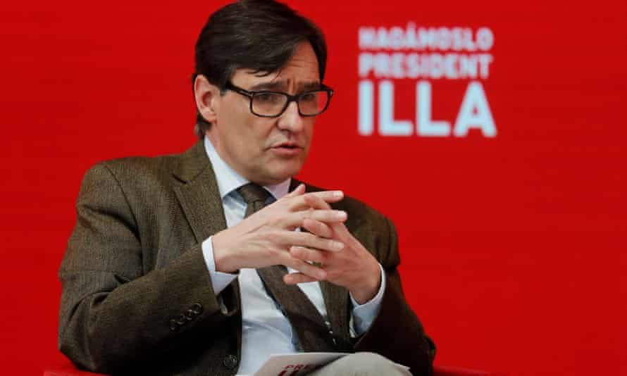 Salvador Illa, the Socialist party's candidate for Catalan president