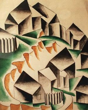 Maisons by Lyubov Popova, 1916.