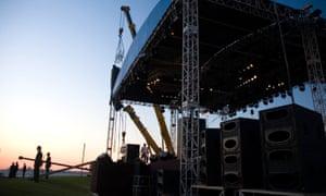 Stage set for festival