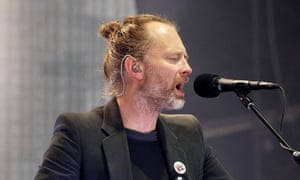 Thom Yorke performing with Radiohead at the TRNSMT festival in Glasgow last week.