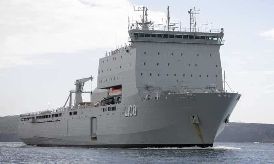 HMAS Choules, which was reportedly carrying up to 50 asylum seekers back to Vietnam on Friday afternoon.