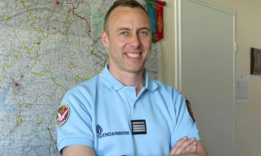 Lt Col Arnaud Beltrame who was killed after swapping himself for a hostage in a siege in the town of Trebes, southwestern France, on 23 March.