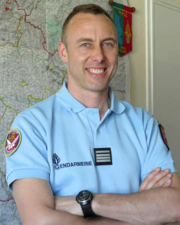 Lt Col Arnaud Beltrame, who was killed after swapping places with a hostage.