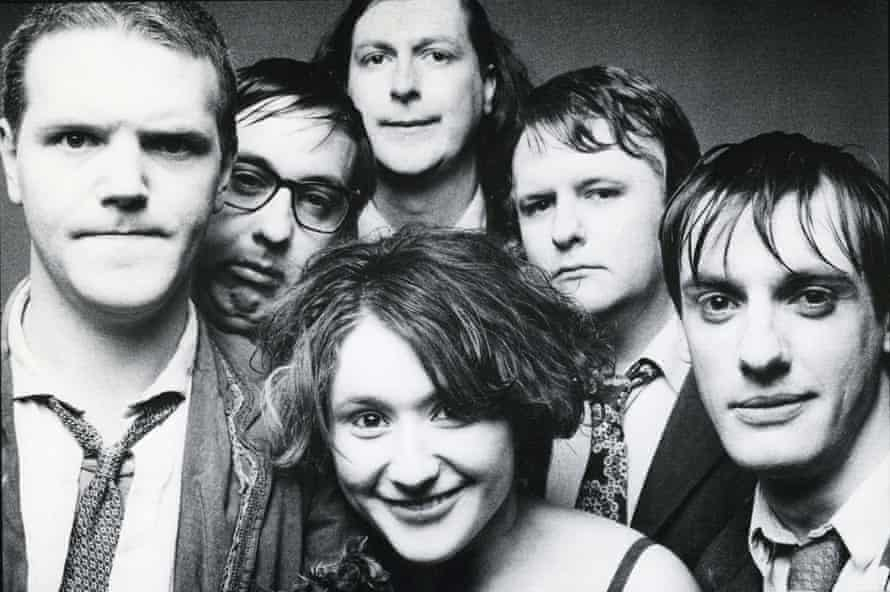 Cardiacs in 1988, with Tim Smith, left.