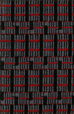 Sample of moquette used on surface transport and tube stock, 1960s-1990s