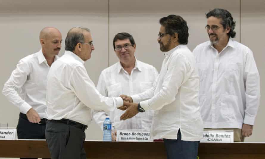 Colombia Cuba Farc civil war rebels