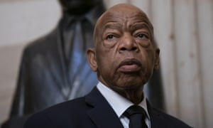 Congressman John Lewis said he would be 'back on the front lines soon'.