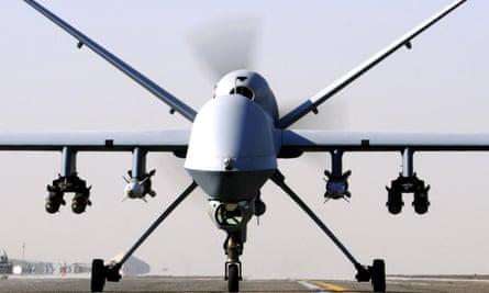 An RAF Reaper UAV drone.