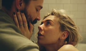 Shia LaBeouf, left, and Vanessa Kirby in Pieces of a Woman.