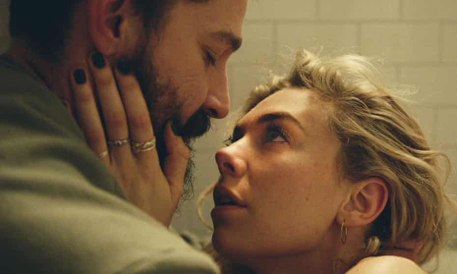 Shia LaBeouf, left, and Vanessa Kirby on Pieces of a Woman.